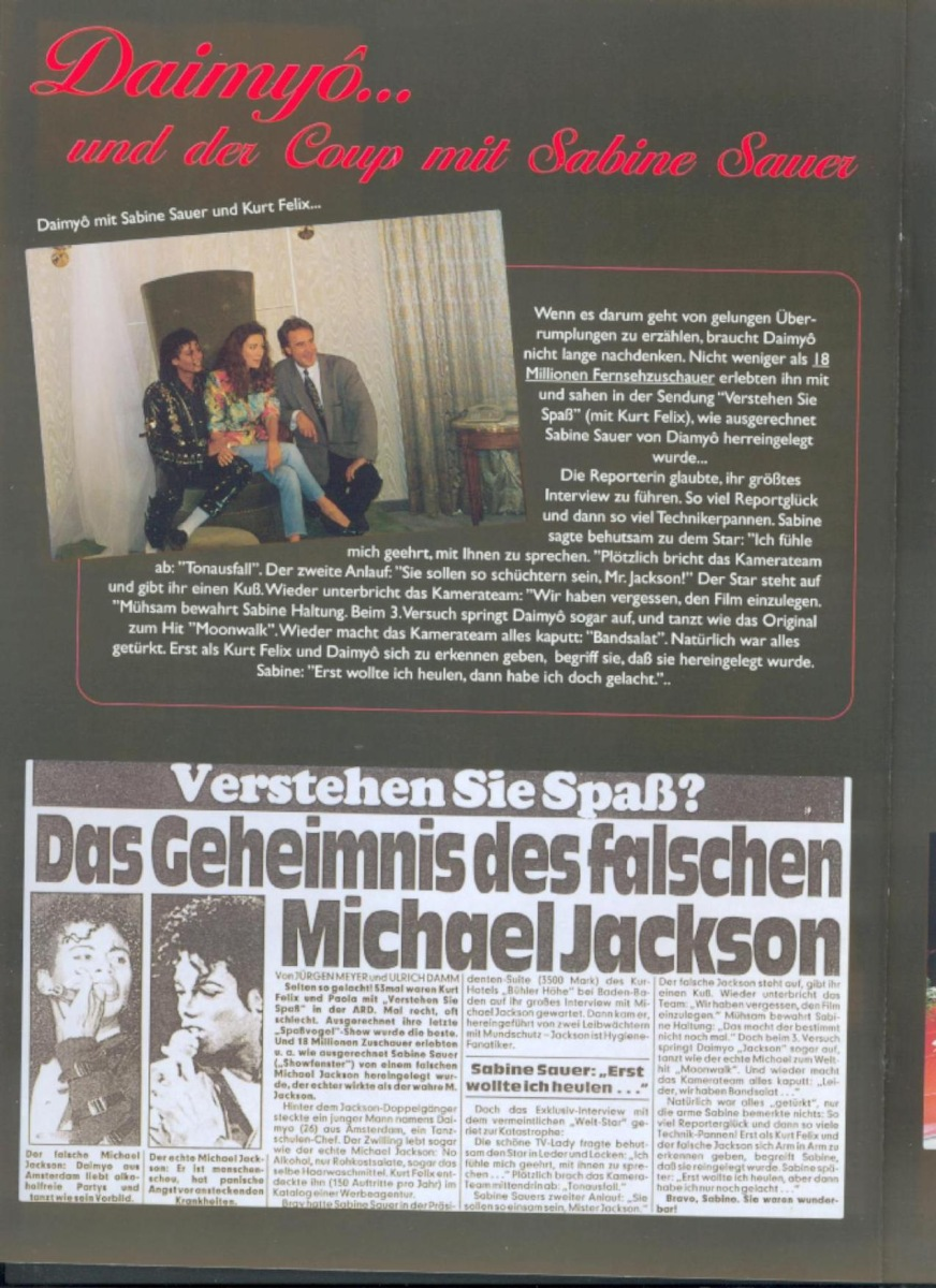 doubles doppelg nger kleve michael jackson double the king of pop daimy jackson buchen. Black Bedroom Furniture Sets. Home Design Ideas