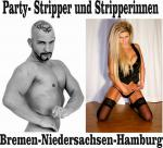 Man-Stripper und Stripperin für ihre Party